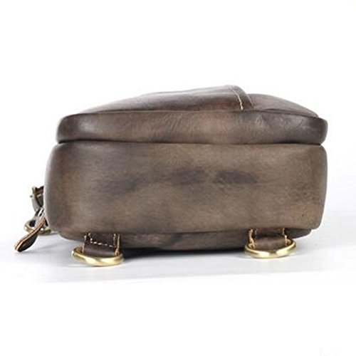 First Retro Messenger Tide Tanned Men's Chest Leather Bag Layer Vegetable BCqn1HIxAw