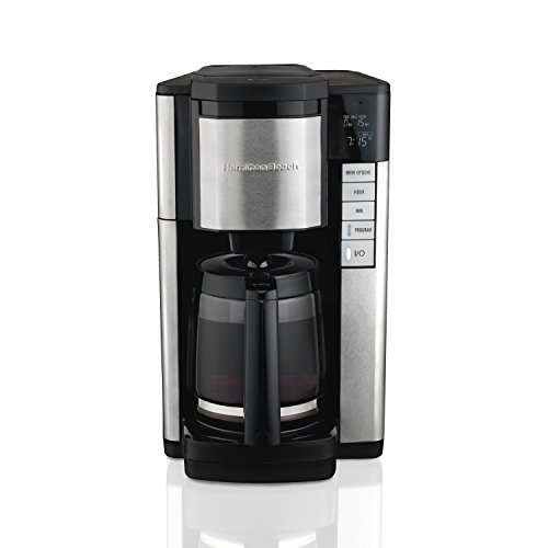 - Hamilton Beach 46381 12-Cup Programmable Coffee Maker, Easy Access Plus, Brew Options, Cone Filter, Black and Stainless