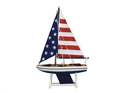 Hampton Nautical  Decorative It Floats Model Boat 12