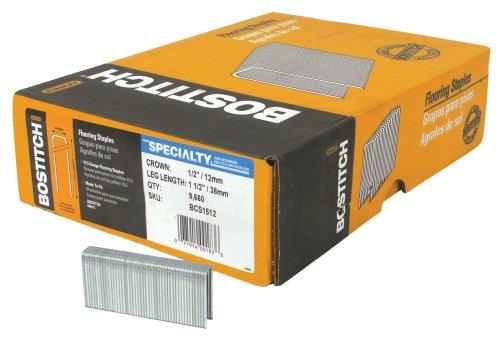 BOSTITCH BCS1512 15-1/2 Gauge 1-1/2-Inch Hardwood Flooring Staple (9,660 per box) by BOSTITCH