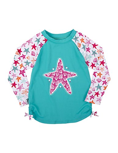 Long Sleeve Rash Guard, Star Fish, 6 (Hatley Stars)