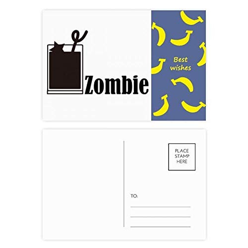 (Zombie Cocktail With The Word Zombie Banana Postcard Set Thanks Card Mailing Side)