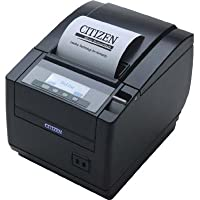 Citizen America CT-S801S3RSUBKP CT-S801 Series POS Thermal Printer with PNE Sensor, Top Exit, 300 mm/Sec Printing Speed, RS-232C Serial Connection, Black