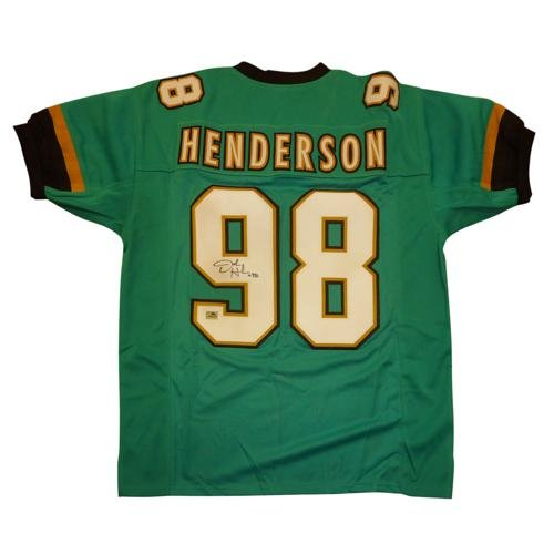 reebok jacksonville jaguars john henderson 98 green replica jersey sale  supplier
