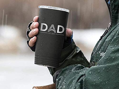 New Dad Gifts Ideas   First Time Dad Est. 2019   Dad to be 20 oz Black Stainless Steel Tumbler w/Lid   Daddy w/New Baby Gift   Expecting Daddy to be by Sodilly (Image #2)