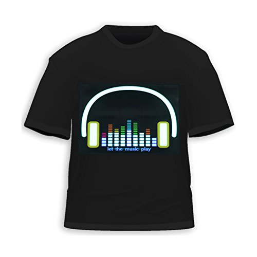 HDE Equalizer Sound Activated T Shirt