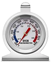 KT THERMO Dial Oven Thermometer with Instant Read,2-Inch Stainless Steel Grill Thermometer