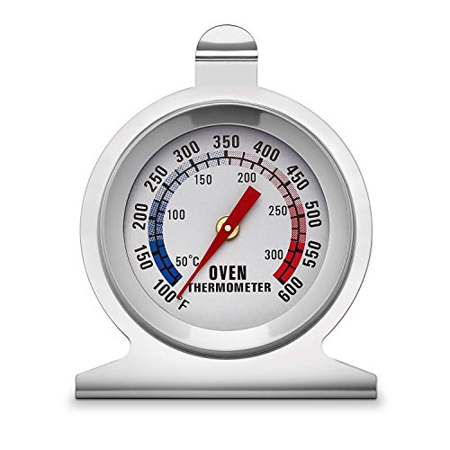 KT THERMO Dial Oven Thermometer With Instant Read,2-Inch Stainless Steel Grill Thermometer ...