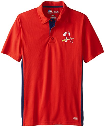 MLB St. Louis Cardinals Men's Ride The Pine Fashion Tops, Red/Navy, Small