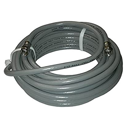 25 FT RG6 Coaxial Cable Gray F pin Connector Solid Copper Center Conductor 18-AWG