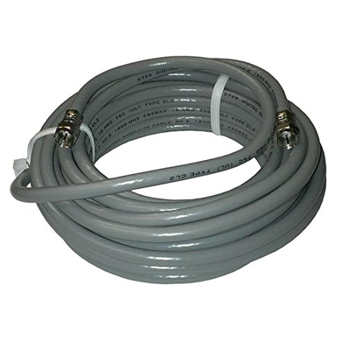 25 FT RG6 Coaxial Cable Gray F pin Connector Solid Copper Center Conductor 18-AWG Digital Satellite TV Antenna Shielded RG-6 Coax with F-Type Connectors