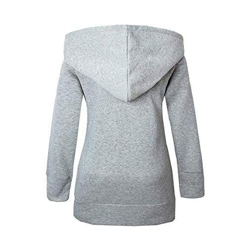 Sleeve Tops Winter V Gray Velvet Long DEELIN Autumn Coats Zipper Thickened Plus Women Sweater Sale Clearance Neck Hooded Leopard Warm q7Z46