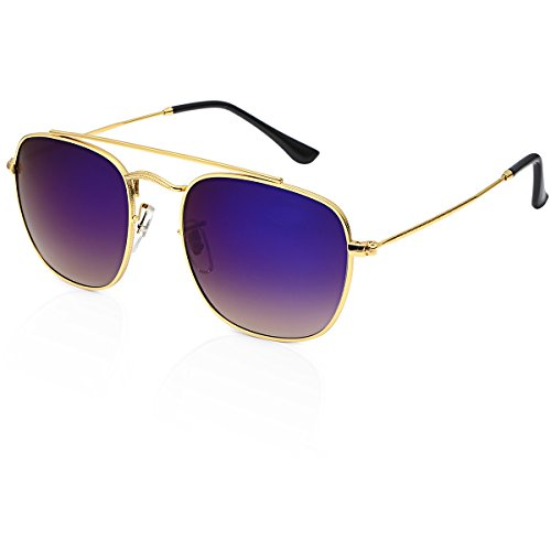 Vintage BLITZ Classic Designer Retro Aviator Round Mirror Sunglasses For Women
