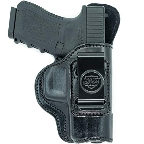 (Inside The Waistband Leather Holster for Sig Sauer P320 Xcompact, 3.9 inch Nitron Compact, X Carry, Nitron Carry. IWB Holster with Clip Conceal Carry. Black Right Hand.)