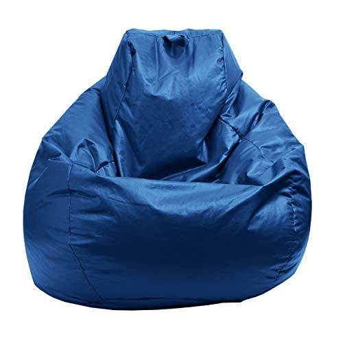 Gold Medal Bean Bags Gold Medal Glossy Vinyl Bean Bag, Medium, Bright Blue