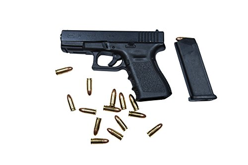 Glock Model 19 handgun with 9mm ammunition Poster Print (34 x 23)