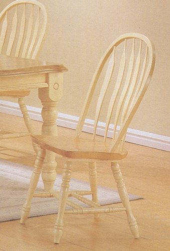 Natural Chair Arrow Wood (Set of 2 Natural Finish Arrow Back Windsor Country Style Wood Dining Chair/Chairs)