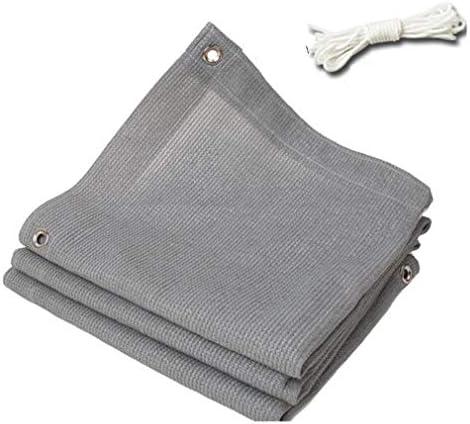 HUYYA 90%日焼け止め シェード 布 ネット、シェーディングネット ミシン目付き 遮光日よけネット 強化エッジ オーニングシェード 角補強 テラス用,Gray_2x3m/6x9ft