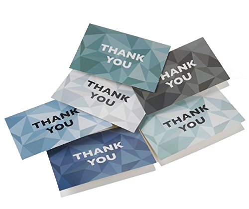 Thank You Cards - 48-Count Thank You Notes, Bulk Thank You Cards Set - Blank on the Inside, 6 Stained Glass Pattern Designs – Includes Thank You Cards and Envelopes, 4 x 6 Inches by Best Paper Greetings (Image #8)