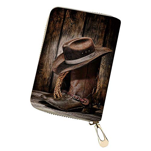 Leather Credit Card Wallet, American West rodeo Women Wallets Small Coin Purse