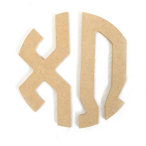 "Chi Omega Sorority 8"" Round Wood Monogram Letter Set chi - Desert Premium Outlets"