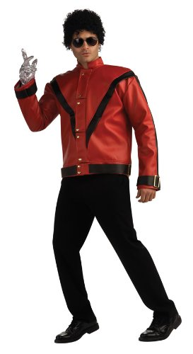 Michael Jackson Deluxe Thriller Jacket, Red, Large Costume ()