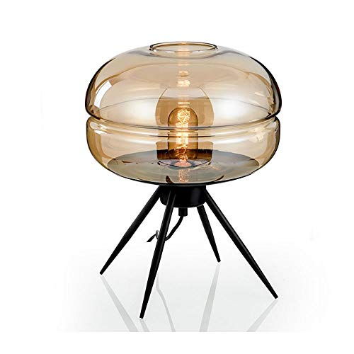 Zr Postmodern Nordic Minimalist Style Bedside lamp Living Room Glass Hotel Small Table lamp Bedroom Creative (Color : ()