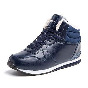 Botte Femme Homme HiverBoots Neige Fourrees Chaudes Chaussures de Randonnée Bottines Lacets Antidérapant Noir Marron Gris Taille 35-50 EU