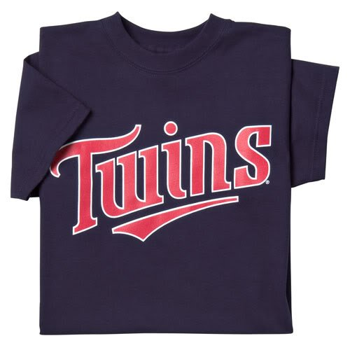(Minnesota Twins (ADULT 2X) 100% Cotton Crewneck MLB Officially Licensed Majestic Major League Baseball Replica T-Shirt Jersey)