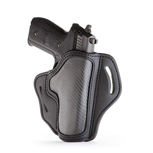 1791 GUNLEATHER Holster for Sig Sauer P226, P220, P229 Right Hand OWB Leather & Carbon Fiber Gun Holster for Belts Also fits 1911 with Rails, HK VP9, Beretta 92FS -(BH2.3)
