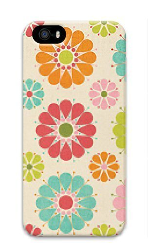 3D Hard Plastic Case Cover for iPhone 5 5S 5G,Colorful Flower Case With Iphone 5/5S 5G