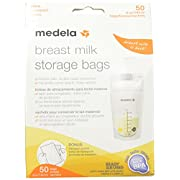 Medela Breast Milk Storage Bags, 50 count Ready to Use Milk Storage Bags for Breastfeeding, Self Standing, Flat Profile Space Saving Storage for Breastmilk