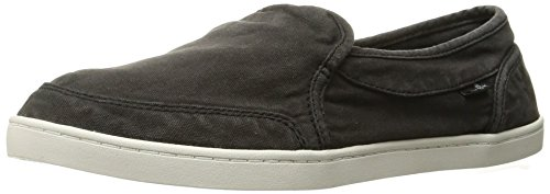 Sanuk Women's Pair O Dice Flat, Washed Black, 5 M US