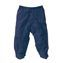 Babysoy Baby Boys\' O Soy Footie Pants - Indigo - 3-6 Months