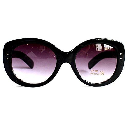 Womens Oversized Big Lens Black Brown Shade Thick Frame - Kardashian Sunglasses