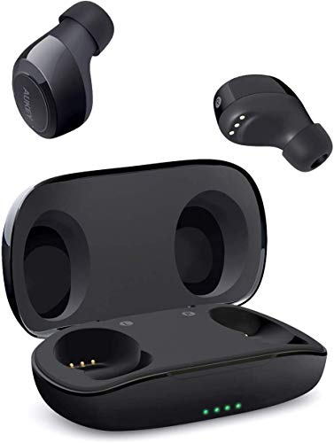 AUKEY True Wireless Earbuds, Bluetooth 5.0 Headphones with IPX5 Water-Resistant, Built-in Mic & Sport Headphones, Portable HiFi Stereo with Charging case