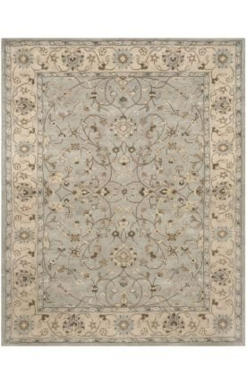 Safavieh Heritage Collection HG862A Handmade Traditional Oriental Beige and Grey Wool Area Rug (2′ x 3′)