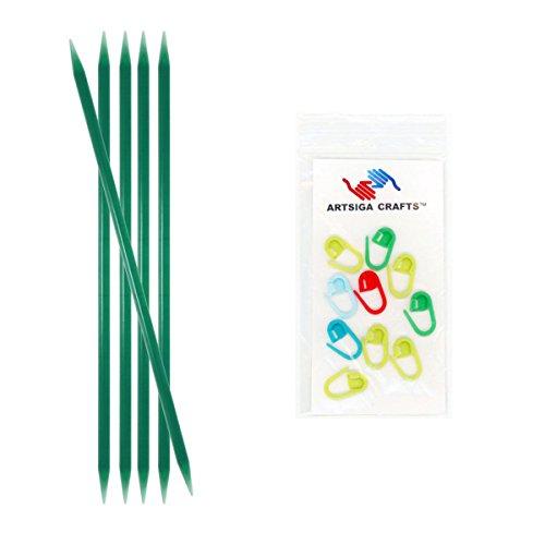 Double pointed plastic needles