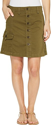 (Jag Jeans Women's Boardwalk Button Front Skirt in Bay Twill Hedge 10 )