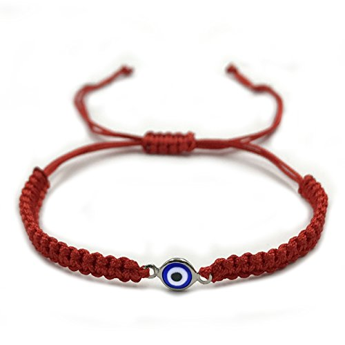 2911-SRB Womens Red Evil Eye Braided String Bracelet Protection Jewelry for Good Luck (SRB) ()