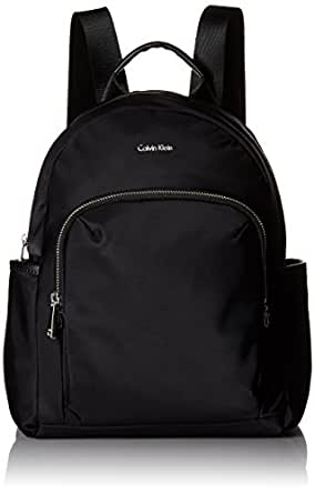 Calvin Klein womens Calvin Klein Tanya Nylon Backpack Black Size: One Size