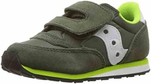 Saucony Boys' Baby Jazz HL Sneaker, Green/White, 9 Medium US Toddler