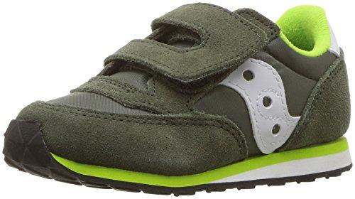Saucony Jazz Hook & Loop Sneaker (Toddler/Little Kid), Green/White, 10 M US Toddler]()