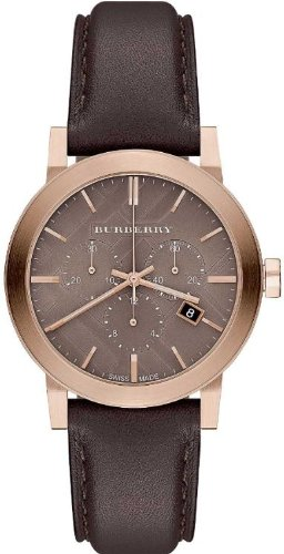 Burberry The City Chocolate Leather Unisex Watch BU9755
