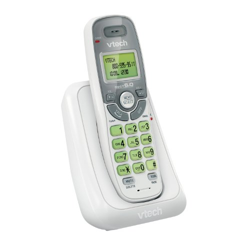 VTECS6114 - VTech CS6114 DECT 6.0 Cordless Phone with Caller ID/Call Waiting, White with 1 Handset