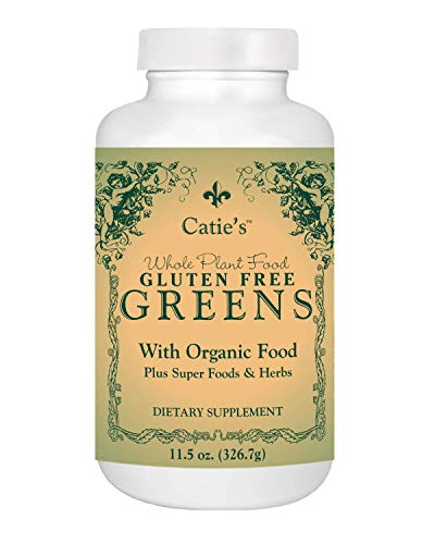 Catie's Organic Gluten Free Greens - Vegan, NON-GMO - Green Super Food for Cleansing, Detox, PH Balance, Energy, Circulation, Weight loss, and Immune System Suppo