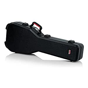 Gator Cases Molded Flight Case for Double Cut-Away Guitars such as Gibson SG Guitars with TSA Approved Locking Latch; (GTSA-GTRSG)