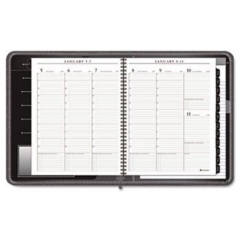 AT-A-GLANCE Executive Recycled Weekly/Monthly Appointment Book, 8 1/2 x 11 Inches, Black, 2013 (70-NX81-05)