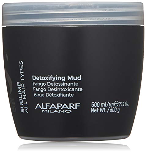 Alfaparf Milano Semi Di Lino Sublime Detoxifying Mud Treatment, Safe on Color Treated Hair - Clay-Based Detox for Hair - Professional Salon Quality - 21.1 oz.