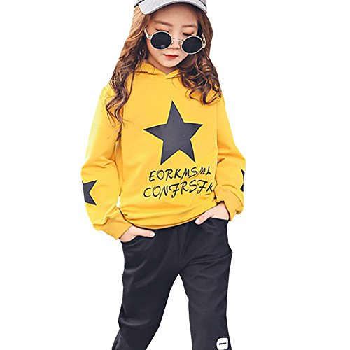M&A Girls Autumn Casual Hoodie + Pant Set 2 Piece Tracksuit for 5-13T by M&A (Image #9)